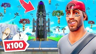 100 players land at the ROCKET... CRAZY!