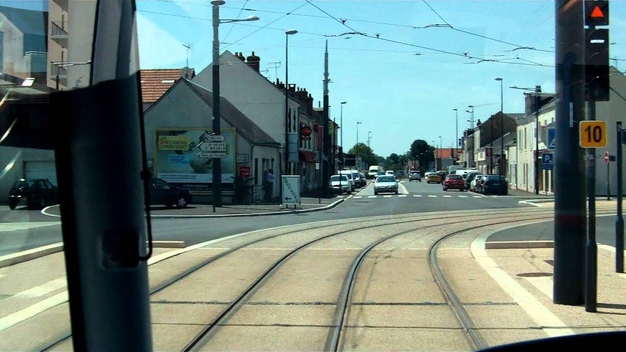 A bord du tramway d 39 orl ans sur la ligne b de de gaulle georges pompidou youtube - Horaire tram orleans ligne a ...