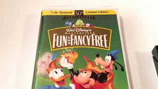 Fun and Fancy Free * Walt Disney * Masterpiece * Animated Cartoon * VHS Movie Collection