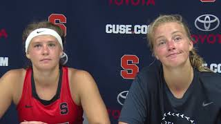 Chiara Gutsche and Roos Weers | Press Conference - Bucknell