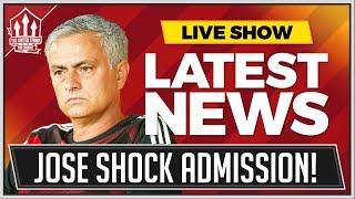 MOURINHO's Shock MAN UTD Admission! Man Utd News