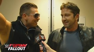 Gerard Butler meets The Miz Raw Fallout February 15 2016