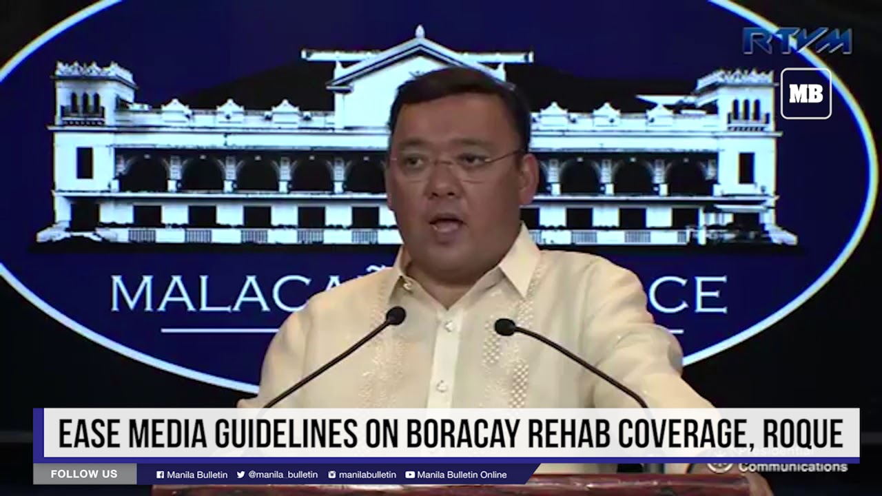Ease media guidelines on Boracay rehab coverage, Roque appeals