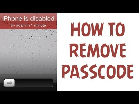 How To Remove A Passcode From an iPhone. iPad. & iPod Touch