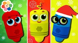 Learn Colors With Color Crew Christmas Special | Finger Family Nursery Rhymes | BabyFirst TV