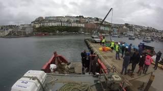 Underwater salvage of sunken vehicle