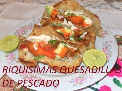 RECETA DE RICAS QUESADILLAS DE PESCADO ( LOS ANGELES COCINAN )