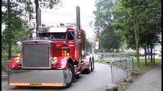 American Trucks in Europe with open pipes sound, by day & night
