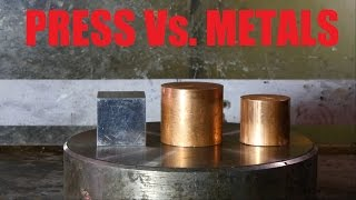Crushing Copper and Aluminium with hydraulic press
