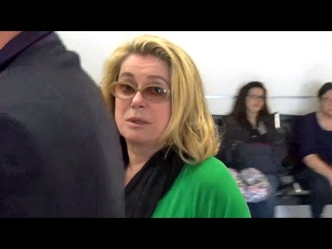 EXCLUSIVE - Catherine Deneuve Is Not In The Mood Catching Flight From L.A. To France
