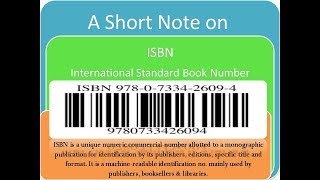 ISBN and ISSN: A Short Note for KVS/UGC-NET/RSMSSB Exams