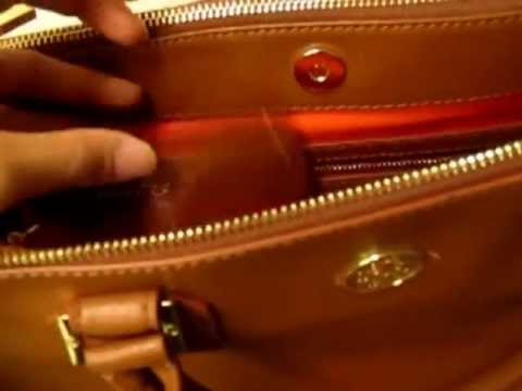 Tory Burch Robinson Double Zip Tote in Luggage