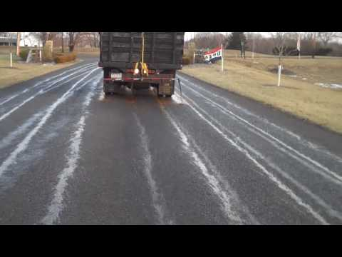 Treating roadways with Magic Salt