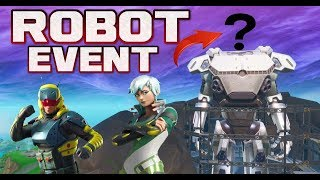 FORTNITE ROBOT EVENT HAPPENING NOW - ROBOTS HEAD ADDED - LIVE COUNTDOWN - FINAL PIECE OF ROBOT