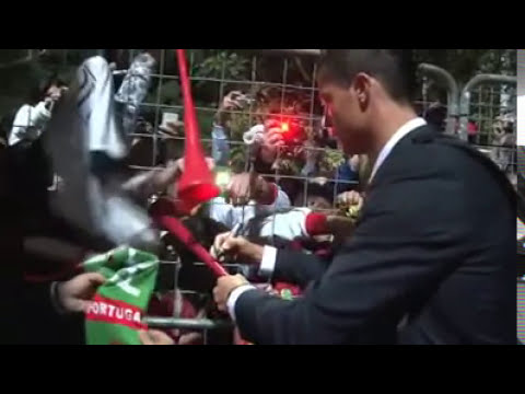 Cristiano Ronaldo en el vestuario de Portugal