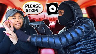 Picking My Girlfriend Up In A UBER Disguised As A Robber *GONE TOO FAR* She Cried & Called The Cops