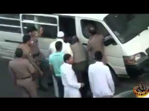 Police Arresting Ethiopian Woman In Jeddah, Saudi Arabia video
