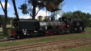 Steam train slow motion at Sandstone Estate