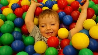Playground fun place - Play for children - the center ground - playground with balls - playroom
