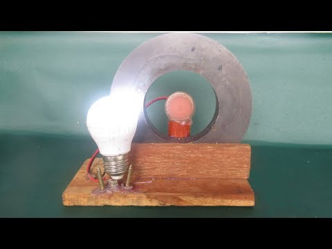 Free energy light bulbs using magnets motor generator - Free energy projects easy at home thumbnail