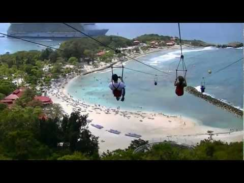 World Longest Zip Line over water in Haiti Dragon's Flight