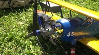 RC DOPPELDECKER BOEING STEARMAN PT-17 WITH A OVERSIZE ENGINE  A.L.K 2017 FLIGHTDAY