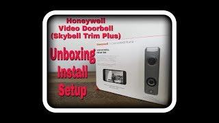 Honeywell Video Doorbell DBCAM Trim (Skybell HD Trim Plus)  Unboxing, Install & Setup