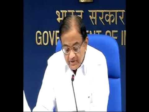 Union Finance Minister Mr. P Chidambaram briefing the media on the Sri Lankan issue-Part 1