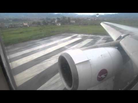 Biman DC-10-30 S2-ACO Takeoff from Kathmandu - Window View