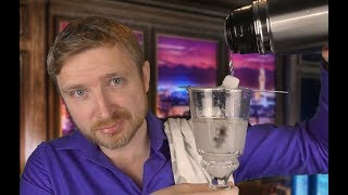 ASMR - Bartender Roleplay (Water, Glass, Tapping sounds)