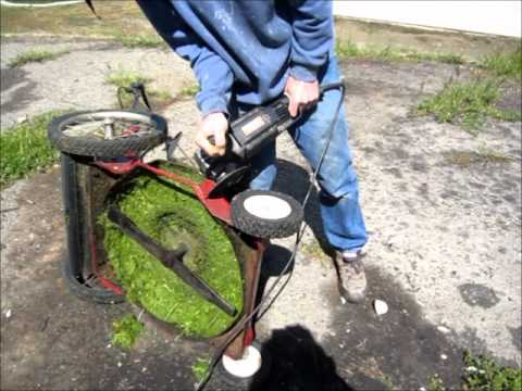 Hot Rod Lawn Mower - Enlarge The Chute To Cut Tall Grass - No Clogs!