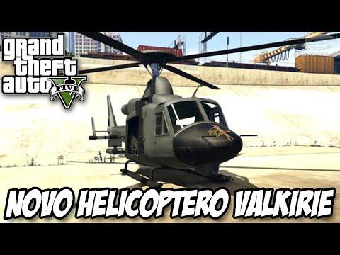 GTA V - NOVO Helicóptero VALKYRIE MILITAR PODERODO HEISTS DLC