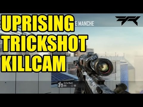 First Killcam on Uprising DLC map pack | Black ops 2 trickshot killcam