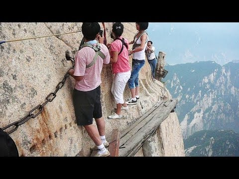 World's Most Dangerous Hiking Trail on Mount Huashan