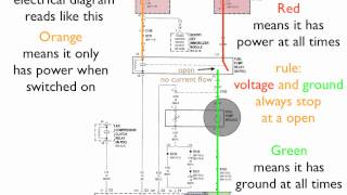 How to read an electrical diagram Lesson #1