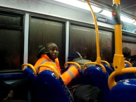 African argument on the bus london 2009 Video