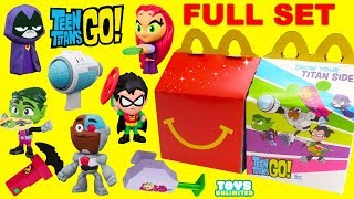 TEEN TITANS GO! 2019 McDonalds Happy Meal Toys Full Set