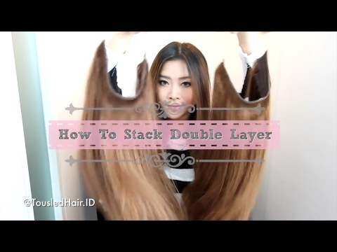 How To Stack Double Layer of Halo Hair Extensions