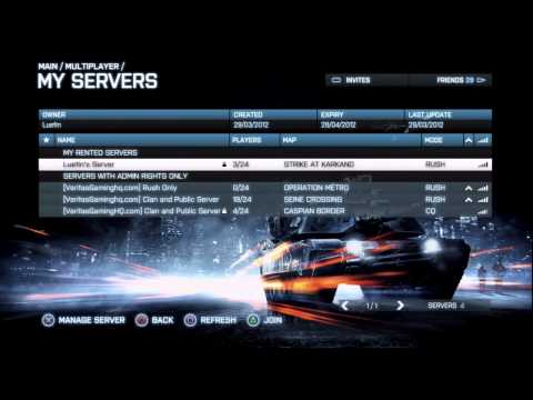 BF3: Setup Private Console servers
