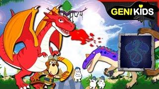 공룡전사의 대모험 1~10편 연속보기 | 공룡 킹 vs 공룡전사의 흥미진진한 대결 지켜봐주세요 ★지니키즈 공룡