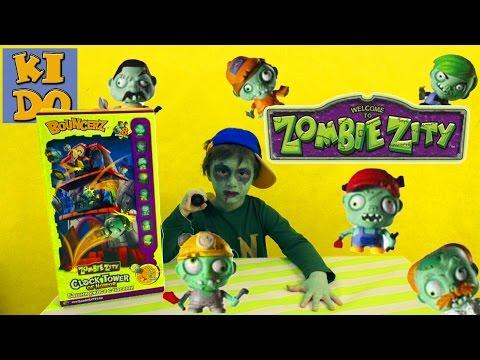 ЗОМБИ ЗИТИ Башня ужаса с часами распаковка игрушки ZOMBIE ZITY  CLOCK TOWER OF HORROR