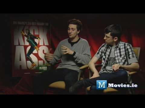 KICK-ASS interview with Aaron Johnson &amp; Christopher Mintz-Plasse (Red Mist) Balls To The Wall