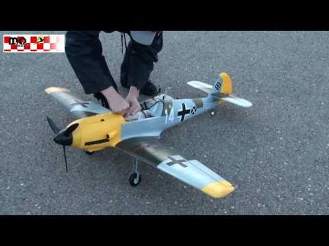 RC Me BF-109 Warbird XL 1400mm Flight Video