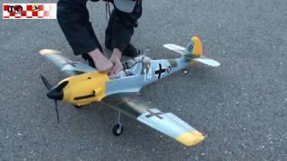 RC Me BF-109 Warbird XL 1400mm Flight Video