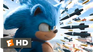 Sonic the Hedgehog (2020) - Rooftop Missile Chase Scene (8/10) | Movieclips