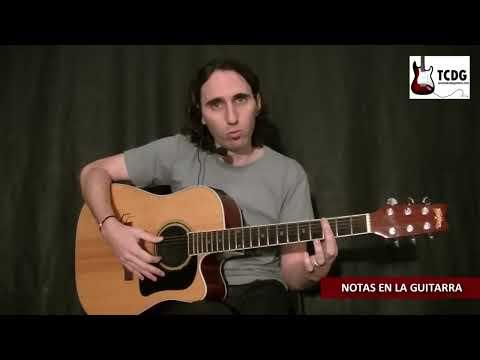 Las Notas Musicales en Guitarra Acústica / Como Aprender a Tocar Guitarra / Tutorial TCDG