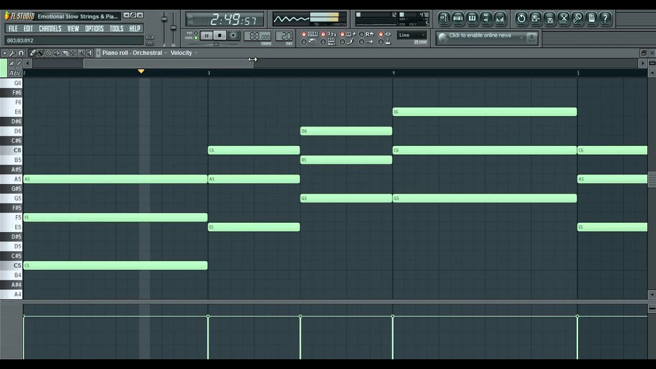 Very Emotional Slow Strings u0026 Piano Beat FL Studio 10 ( TheElectronicBeatZ ) - YouTube