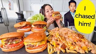 CHEESY IN N OUT FRIES + BURGERS (Animal Style) MUKBANG | Eating Show