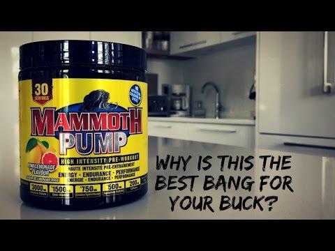 MAMMOTH PUMP PRE-WORKOUT (Pink Lemonade)   The Key Three MV Reviews