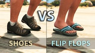 GTA V - Can Flip Flops make you Run slower?